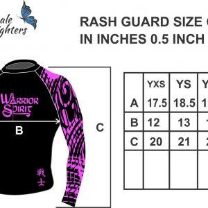 Kids Rashguard Size Chart